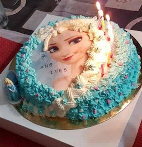 Gateau décoration Elsa