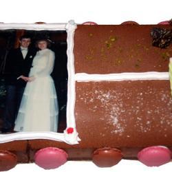 photo sur gateau mariage 2