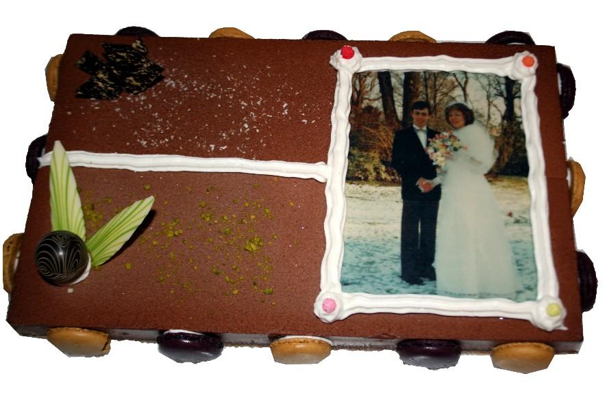 photo sur gateau mariage