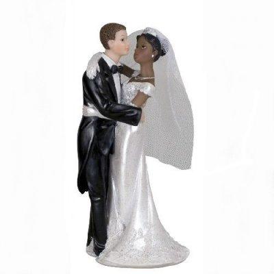 couple de maris mixte figurine de mariage - Figurine Mariage Mixte
