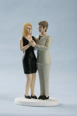 couple de maris femme tailleur robe - Figurine Mariage Mixte