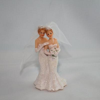 Couple de Mariés Femme Robes Blanches pt model