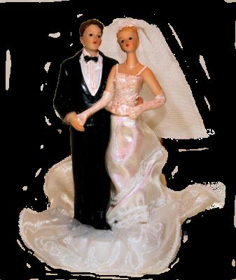 Couple de Mariés sur socle